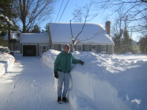 finally cleared driveway to the street!